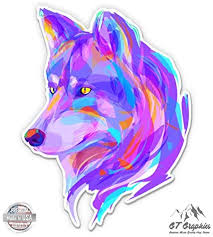 GT Graphics Wolf Colorful - 3