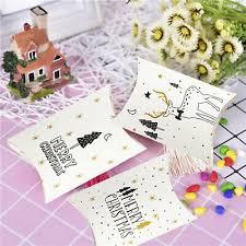 10/<b>20Pcs</b> Merry <b>Christmas</b> Gift Cookie Candy Box Favor Paper Bag ...