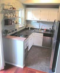 small u shaped kitchen design: gray and white kitchen color scheme in a practical layout