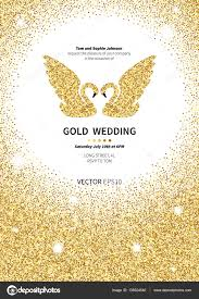 template for invitation gold background stock vector template for invitation gold background gold glitter card design vector design template invitation gold wedding vector by murr ma