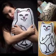 <b>Ripndip</b> Cute Pussy <b>Cat</b> Cushion Lord Nermal Hugging Body ...