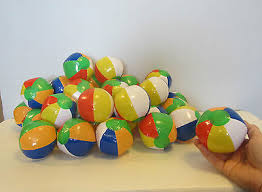 "3 NEW <b>MINI</b> BEACH BALLS <b>MULTI</b> COLORED 5"" <b>INFLATABLE</b> ..."