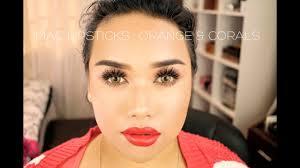 <b>MAC</b> Lipsticks: Orange & Coral UPDATED {14 lip swatches ...