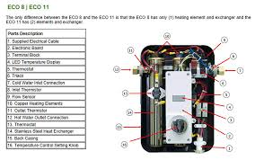 new ecosmart eco  electric tankless water heater  v       ecosmart tankless water heater    s diagram