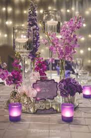 charger plates decorative: with fairy light walls the light from this wedding illuminated an assortment of purple florals