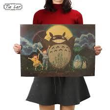 Online Shop <b>TIE LER</b> Vintage <b>Cartoon Anime</b> Totoro Poster Cafe ...