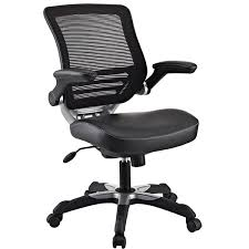 lexmod edge office chair with mesh back and leatherette seat black fabric plastic mesh ergonomic office
