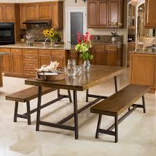 Industrial Style Kitchen Table Wonderful Dining Room Table Bench Rectangle Shape Industrial Style