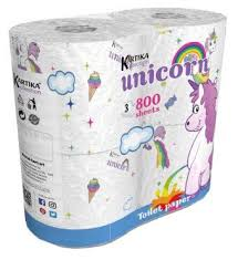 <b>Туалетная бумага World Cart</b> Kartika collection Unicorn белая ...