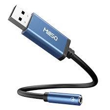 <b>USB</b> Audio Adapter for Windows Laptops Mac Plug and Play No ...
