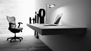 cool black black and white office furniture