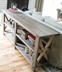 rustic x console build your own rustic furniture