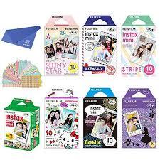 <b>Fujifilm</b> Instax Mini Film 7 Pack Bundle Twin Pack White <b>Shiny Star</b> ...