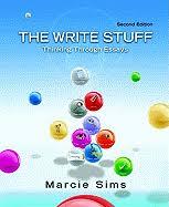 the write stuff thinking through essays book by marcie sims    the write stuff thinking through essays