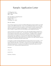 letter of application jobs