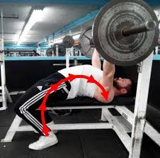 Bench press arching your back