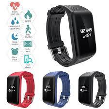 Multifunctional Fitness Tracker K1 <b>Smart Bracelet Real</b>-<b>time</b> Heart ...