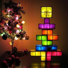 Diy <b>tetris</b> puzzle novelty <b>led</b> night <b>light</b> stackable <b>led</b> desk table <b>lamp</b> ...