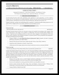 resume chef sample resume chef sample resume full size