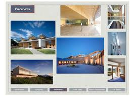 tips to help you give amazing presentations first in architecture this image is taken from a sketch proposals presentation the contents of the presentation are listed at the bottom of the page highlighting the particular