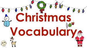 Resultado de imagen de christmas vocabulary