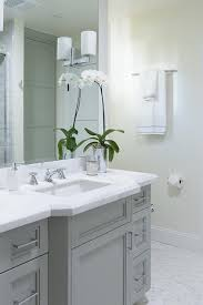bathroom features gray shaker vanity: gray bathroom vanity with white marble countertop view full size