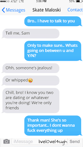 AU: Jealous Sam texts his friends to tell them... | Omahabaes🐾 via Relatably.com
