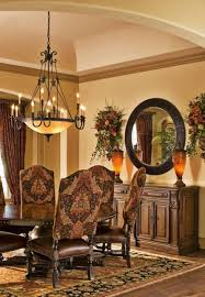 Tuscan Dining Room Table Room Tuscan Style Dining Room With Traditional Chandelier And