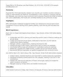 professional non profit administrative assistant templates to    resume templates  non profit administrative assistant
