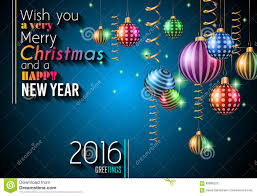 happy new year and merry christmas background stock vector 2016 happy new year and merry christmas background