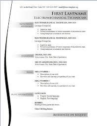 resume examples   best detailed efficient effective online      resume examples  employment experience first electromechanical technician education background online free resume templates accomplishments achievements