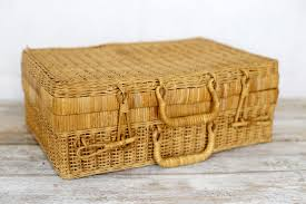 Image result for vintage wicker suitcases