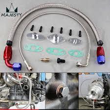 Billet <b>Turbo Oil Drain Return</b> Flange 10 AN Garrett GT28 GT30 GT35 ...