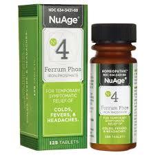 NuAge #<b>4 FERRUM PHOS 6X</b> 125 Tabs - Buy Online in Kuwait ...