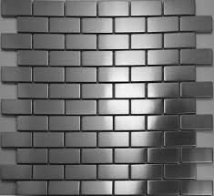 kitchen backsplash stainless steel tiles: brick silver metal mosaic tiles smmt stainless steel wall tile kitchen backsplash mosaic tiles brushed silver metallic mosaic