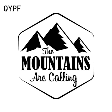 QYPF <b>14.3cm*15.8cm The MOUNTAINS Are</b> Calling Exquisite Vinyl ...