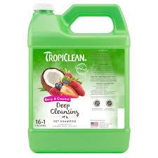 <b>TropiClean Deep Cleaning</b> Berry & Coconut Dog & Cat <b>Shampoo</b>, 1 ...