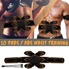 EMS USB <b>Rechargeable Muscle</b> Training Gear, <b>Muscle</b> Stimulation ...