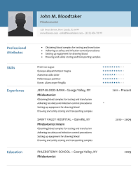 phlebotomy resume picture phlebotomy resume