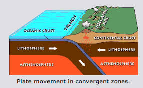 viable opposition  explaining japan    s earthquakeas the more dense oceanic crust of the pacific plate is subducted under the less dense continental crust of the north american plate  the oceanic crust is