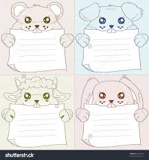 4 1 collection pet holding memo stock vector 84014059 shutterstock 4 in 1 collection of pet holding memo pad design vector illustration