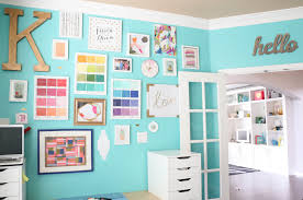 office gallery wall new chic mint teal office