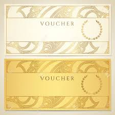 blank cheque stock illustrations cliparts and royalty blank cheque voucher gift certificate coupon template floral scroll pattern border