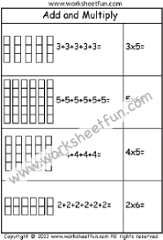 Multiplication – Repeated Addition / FREE Printable Worksheets ...Multiplication – Add and Multiply – Repeated Addition -Two Worksheets