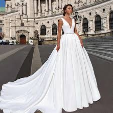 <b>Eightree</b> Long Sleeve Elegant Wedding Dress Plus Size A Line ...