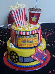Decorated Birthday Cakes Movie Themed Birthday Party Popcorn Cupcakes Birthdays Popcorn