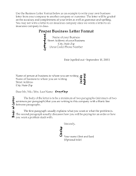 correct format for business letter letter format  correct
