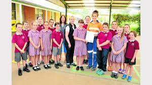 local miners support local environmental eduction parkes pictured at parkes east school are from left jacob chambers cooper kearney isobella