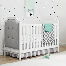 baby relax luna 2 in 1 upholstered crib pure white image baby nursery furniture relax emma