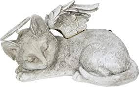Comfy Hour Resin Memorial <b>Cat Angel</b> In Hand Pet Statue ...